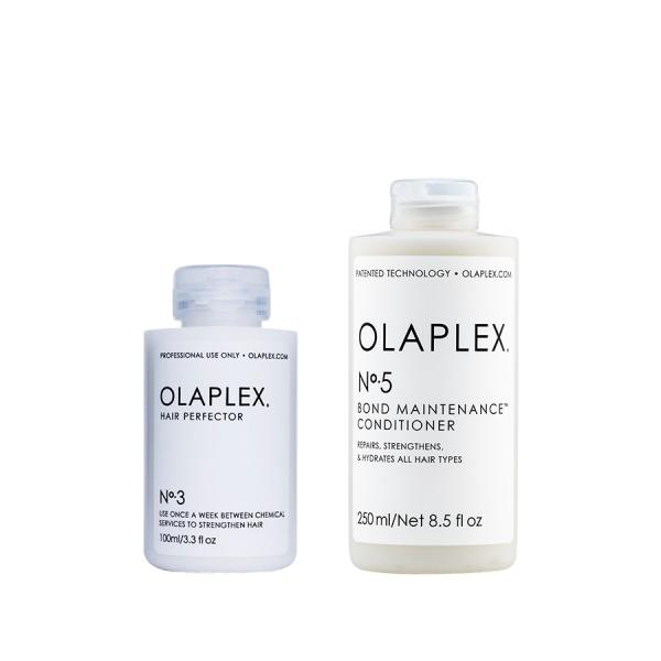 Olaplex No.3 és 5 Hair Perfector és kondicionáló sérült, töredezett hajra
