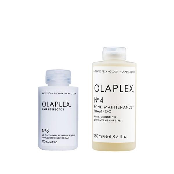 Olaplex No.3-4 Hair Perfector és sampon sérült, töredezett hajra